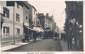 Photo:The Rose and Crown, 8 Baxtergate, Loughborough circa 1914