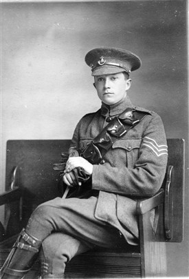 Photo:Harry Sheldon pictured in his sergeant's uniform shortly before he left for France