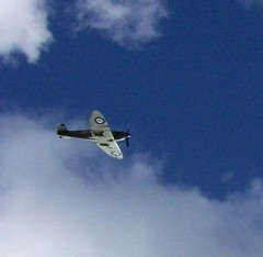 Photo:Over Newark Parish Church at Battle of Britain Memorial Day, September 2011