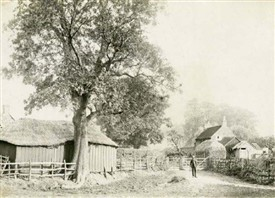 Photo:An old postcard showing the entrance to Barton-in-Fabis