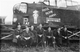Photo:58 MU crew with Lancaster Pistol Packin' Mama