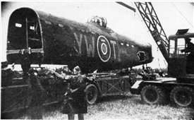 Photo:58 MU recover Lancaster YW-T, R5845 at RAF Winthorpe