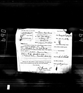 Photo:articles of private property of the late No. 404943 Pte Allsop