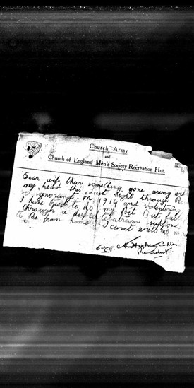 Photo:Edward Allsop's suicide note