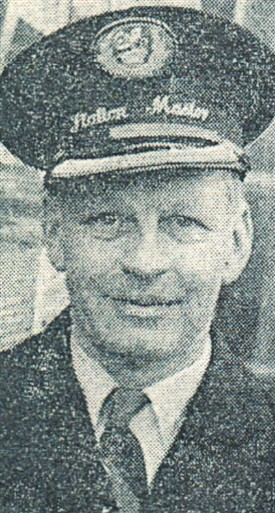 Photo:Station Master J.H. Fisher at the time of his appointment to Bingham in 1961