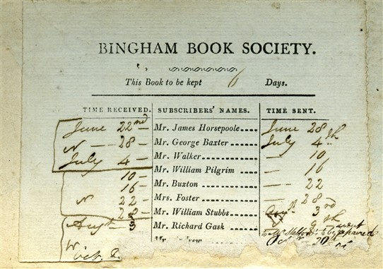 Photo:Bingham Book Society c.1867