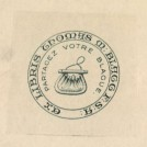 Photo:Bookplate of Thomas M. Blagg of Newark
