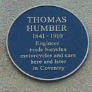 Photo:The Blue Plaque for Thomas Humber