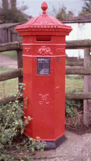Photo:The Penfold Pillar Box standing proudly in Budby village 2/2/2015