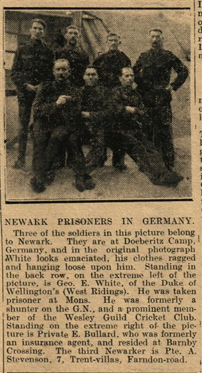 Photo: Illustrative image for the 'Newark POWs in the First World War' page