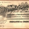 Page link: Wright & Sons, Printers, Radcliffe-on-Trent