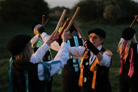 Photo: Illustrative image for the '[LAXTON] Rattlejag Morris May Day sunrise celebrations' page