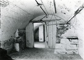Photo:Prison Cells beneath Newark's former workhouse on Albert Street.  They were preserved beneath Hole's Brewery which later took over the site, and were photographed here in 1949