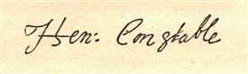 Photo:Facsimilie signature taken from Henry Constable's letter to Anthony Bacon, 6th October, 1596.
