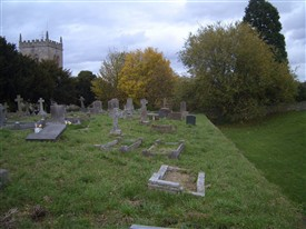 Photo:Modern cemetery on site of Cuckney castle