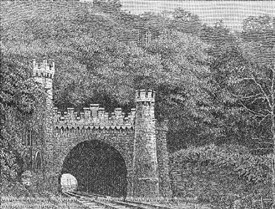 Photo:An etching of red Hill tunnel from the 1850s