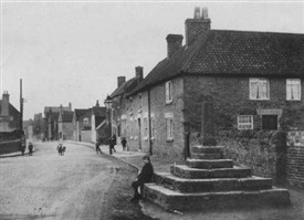 Photo:Kirkby Cross - Chapel Street is on the left