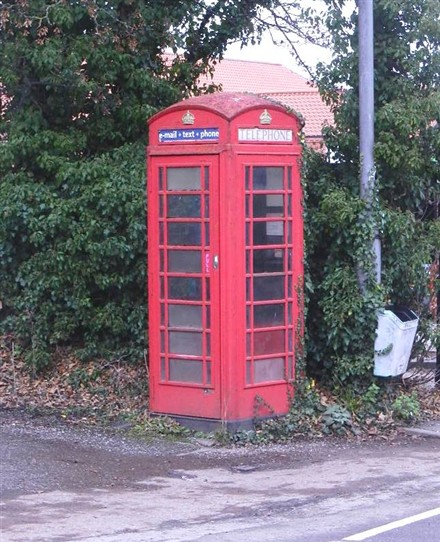 Photo:SOUTHWELL: The Ropewalk.  Email, text and phone from this card-only telephone box