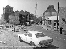 Photo:Demolition of Arkwright Station 1975