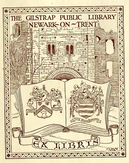 Photo:Gilstrap public library bookplate, 1934