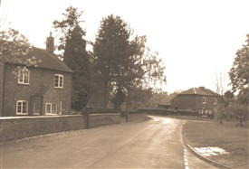 Photo:The Green ... pinfold, blacksmith's shop, cowkeeper's house, Adam Faith's wartime shleter