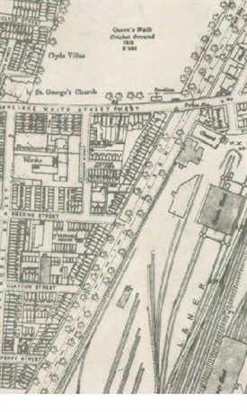 Photo:Great Central Goods yards & sidings The Meadows Nottingham (OS maps c.1915)
