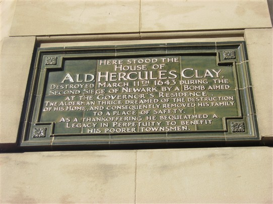 Photo:The plaque on the site of Clay's house