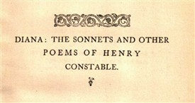 Photo:Title page from an 1859 collection of Henry Constable's best known works