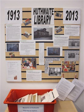 Photo:Display about the history of the library
