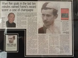 Photo:Review of the book by Andy smart in the Nottingham Evening Post newspaper