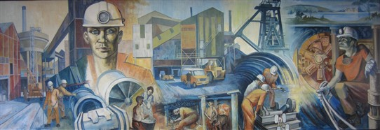 Photo: Illustrative image for the 'Coal Mining mural at Dukeries College, Ollerton' page