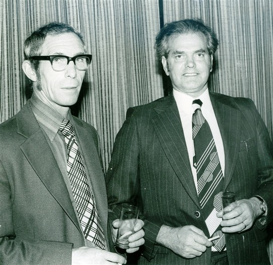 Photo:Ex Annesley Managers - Jack Hand and Vic Brown