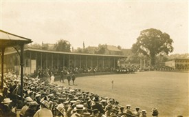 Photo:Cricket match between the Police and Special Constables in 1915
