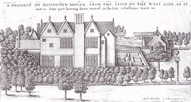 Photo:Ossington Hall in 1676, drawn by Richard Hall