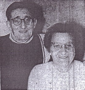 Photo:Mr & Mrs Hodson, photographed in 1970.