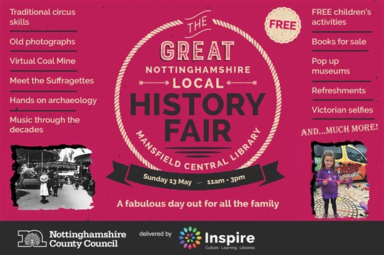 Photo: Illustrative image for the 'The Great Nottinghamshire Local History Fair 2018' page