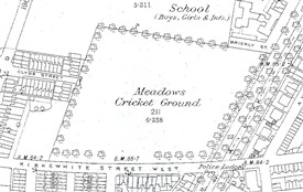 Photo: Illustrative image for the 'Map showing Meadows Cricket Ground 1884' page