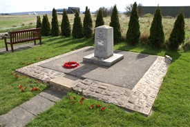 Photo:207 Squadron memorial at Langar airfield
