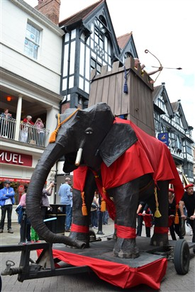 Photo:The Chester Midsummer Parade is famous for its elephant