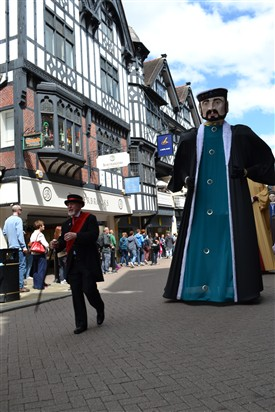 Photo:The Chester Midsummer Parade is famous for giants