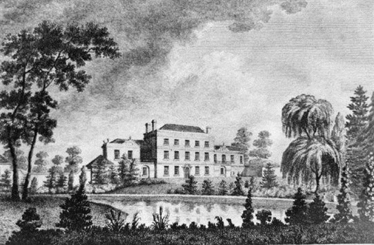 Photo:West Retford House, from an engraving dated 1788.  At that time the house was the seat of Alex. Emerson esq. being later owned by the Huntsman family, steelmakers of Sheffield.