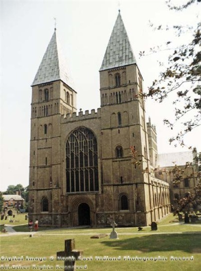 Photo:Southwell Minster from the west