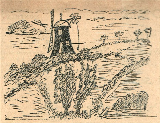 Photo:A pen and ink sketch of the last windmill in Normanton-on-Trent by Mr W.H. Soulby, 1907.