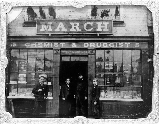 Photo:March the Chemist from the mid 1880s