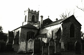 Photo:Oxton Church - the village stocks and whipping post were located close by