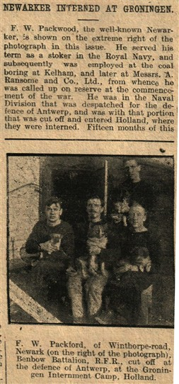Photo:From the Newark Advertiser, 26th January, 1916