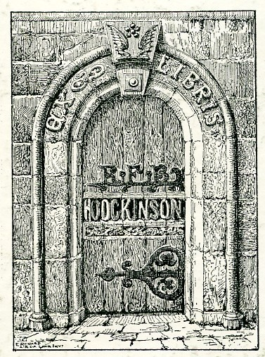 Photo:Bookplate of R.F.B. Hodgkinson of Newark-on-Trent