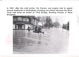 Photo:The Floods of 1947, West Bridgford, Albert Road