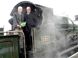 Photo:Author Michael Vanns (left) and Councillor John Cottee officially launch the book at the Nottingham Transport Heritage Centre at Ruddington near Nottingham, Saturday 4th December, 2010.