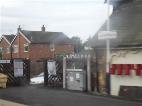 Photo:Lowdham Station entrance to 'Trains to Lincoln' side